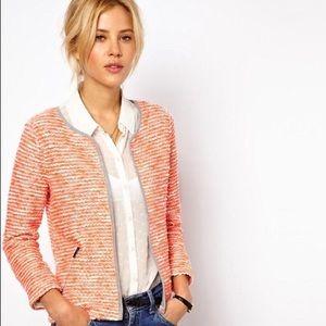 ASOS   orange boucle Cardigan/ blazer 12
